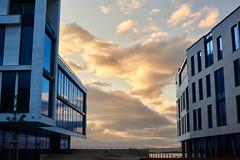 New and cool vs nature (ATEfoto) Tags: architecture norway sunset farstad norge aalesund buildenings modern lesund solnedgang moderne arkitektur lesund lesund mreogromsdal