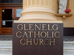 Where Mum Met Dad (mikecogh) Tags: glenelg catholicchurch sign family links events steps church
