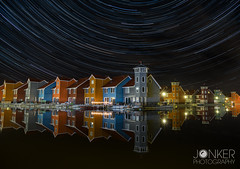 'Startrails at Reitdiephaven' (melvinjonker) Tags: groningen reitdiep reflection waterreflections waterhouses stars starsphotography startrails trails colours longexposure longexposureshots longexpo night nightphotography nightshot nighttime nightsky landscape landscapephotography nature natureperfection naturelovers sony a7ii ngc composition