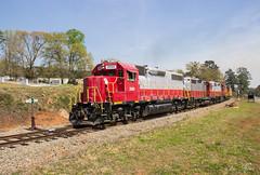 GNRR at Woodstock (travisnewman100) Tags: gnrr freight railroad shortline 2000 georgia northeastern manifest exln emd gp382