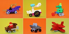 Wacky Races (simplybrickingit) Tags: lego microscale wackyraces wacky races cartoon fun uk retro moc