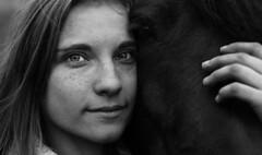 Marta&Pasterka (mazur.klaudia) Tags: horse blackhorse black blackandwhite bw model photomodel portrait portraiture session canon eyes face