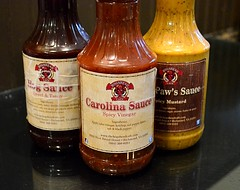 Sauce Trio (pjpink) Tags: hogsheadcafe bbq barbeque barbecue pork ribs sauce nearwestend lunch rva richmond virginia october 2016 fall pjpink