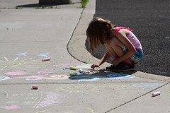 Chalk Drawing in the Park (Vegan Butterfly) Tags: park outside outdoor city urban people vegan child person kid cute adorable homeschool homeschooling chalk art drawing