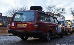 Volvo 240 GL 1990 (XBXG) Tags: 37hrxj volvo 240 gl 1990 volvo240 polar noordkaap challenge kombi stationcar break stationwagen station wagon estate red haarlem nederland holland netherlands paysbas vintage old classic swedish car auto automobile voiture ancienne sudoise sweden sverige zweden sude zweeds outdoor vehicle