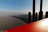 Mood of the day (DOT finger) Tags: autumn pont bordeaux pontdaquitaine bridge brouillard garonne fleuve sunrise architecture fog automne rouge river red