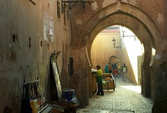 In Marrakesh (h) Tags: marrakesh morocco africa november 2016 street arches city walls light