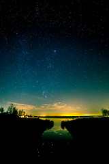 Der Hainer See bei Nacht (wirklich_rainer_zufall) Tags: milchstrase sterne sachsen leipzig hainer see walimex samyang 14mm langzeitbelichtung sternenfotografie astrofotografie