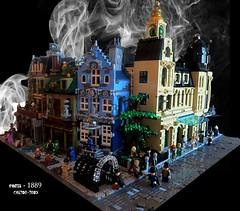[WIP] Paris 1889 - first district (CASTOR-TROY) Tags: paris 1889 lego modular steampunk city building texture