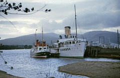 'Countess Fiona '& 'Maid of the Loch' at Balloch. Sep'84. (David Christie 14) Tags: countessfiona maidoftheloch balloch lochlomond