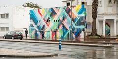 Street, Rabat (Sue_Hutton) Tags: maroc morocco november2016 rabat autumn mural northernmorocco rain street wet