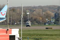 De-icing truck. (aitch tee) Tags: cardiffairport vehicle airportequipment deicingvehicle winteroperations cwlegff maesawyrcaerdydd walesuk