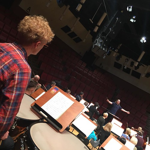 #Perspective of #Timpani - #rehearsal for the #concert 2.12.2016 #DariuszMikulski #Conductor & #Soloist #FilharmoniaDolnoslaska #JeleniaGora #Hirschberg #NiederschlesischePhilharmonie #Mozart #LaClemenzaDiTito #HornConcert #Beethoven #Sinfonie No 5