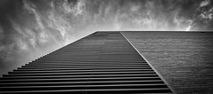 Building Clouds, Austin TX (sbmeaper1) Tags: hdr clouds bricks black white building austin tx texas architecture ut university