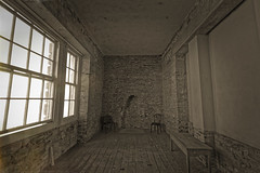 Belmount Tower (Myrialejean) Tags: beltonhouse belmonttower history architecture building brick countryside brownlow nationaltrust viscount tyrconnel belmount structure table chairs fireplace windows walls bare floor boards old decay
