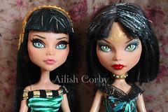 Sisters (AilishCorby) Tags: egipcias cleo nile repaint ooak custom monster high dolls mattel egyptian