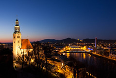 Mllner Kirche (Ming Jun Tan) Tags: vienna old travel sunset sky panorama lake mountains travelling salzburg tower church water parish night bells river wonder flow dawn austria town twilight european catholic cityscape cathedral dusk hiking empty hill wide wideangle bluesky landmark unesco clear cult bluehour citycenter cityskyline mountainrange salzburgcastle worldwonders europeantravel salzburgnight salzburgcity salzburgriver mllnerkirche salzburgoldcity austriansalzburg salzburgbeautiful salzburgspring salzburgcitycentre