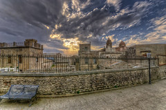 Erice in HDR (Fil.ippo) Tags: sunset sky urban landscape tramonto cityscape sigma cielo 1020 hdr filippo erice trapani d7000