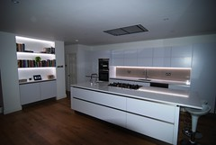 """Amherst Kitchen with LED Backlite feature Bookcase and worktops • <a style=""""font-size:0.8em;"""" href=""""https://www.flickr.com/photos/77639611@N03/7052186169/"""" target=""""_blank"""">View on Flickr</a>"""
