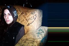 sean (Jacob Seaton) Tags: philadelphia smile punk seat couch tattooedmoms napaldeath seanseaton