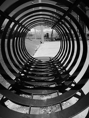 Bike rack (Sarah Hoare) Tags: blackandwhite abstract portugal lagos straightoutofcamera nikoncoolpixp300