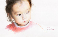 Adora (commissioned) (Outeda) Tags: portrait baby color art girl pencil child drawing retrato adorable dibujo realismo adora levin lpiz hiperrealismo hyperrealism polychromos relism