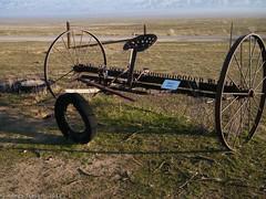 Sulky Rake (Anne's Travels 4) Tags: california tractor farm antiques tractors nationalmonument carrizo drylandfarming farmingequipment carrizonationalmonument