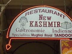 Passage des Panorama, Paris. Kashmir Indian restaurant sign (Stuart Neville) Tags: paris sign restaurant indian kashmir passagedespanorama
