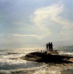 ocean spray@tanah lot@bali (reza tool) Tags: ocean vacation bali holiday 6x6 beach mediumformat tourist fujireala tanahlot 120mm istillshootfilm praktisx