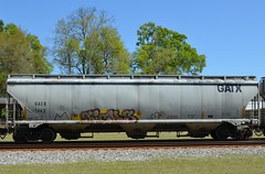 SICKS on GACX 7442 20130328 Folkston GA (rmccallay) Tags: graffiti sicks hopper gatx gacx