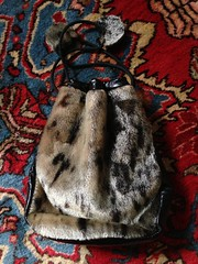 Seal Skin Purse (blackthorne56) Tags: beads carved skin ivory seal goodwill