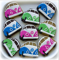 Campervan blue, green and pink (Cute Sweet Thing) Tags: pink blue sun green vw fun surf cookie retro iced combi campervan 1960