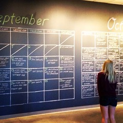 Now, THAT'S a wall calendar (Brent Stromme) Tags: church minnesota chalk calendar mn opendoor maplegrove uploaded:by=flickrmobile flickriosapp:filter=nofilter