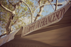 IL CAF DE FRANCESCO (beckyspeller) Tags: barcelona street food sign shop canon advertising outside eos cafe spain pretty resturant 600d