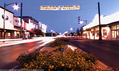 Old West Downtown Gilbert (Solely Captured Photography) Tags: sunset long exposure downtown country gilbert bluehour oldwest