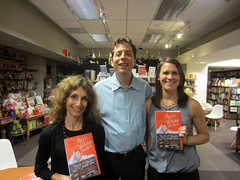 Members of the Warwick's staff with author Fred Stoller (Warwick's Books) Tags: books actor booksigning memoir warwicks authorsigning warwicksbooks fredstoller