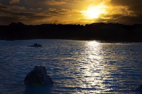 Sunset at the Blue Lagoon