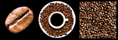 Coffee Triptych (ClickSnapShot) Tags: cup coffee beans triptych bean kaffe saucer fika
