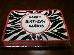 Zebra Cake by Cristy, RDU NC, www.birthdaycakes4free.com