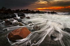 The Pull (eggysayoga) Tags: sea bali white seascape motion water rain rock sunrise hair indonesia nikon day hard wave tokina filter lee nd f28 graduated gnd 1116mm ketewel manyar d7000