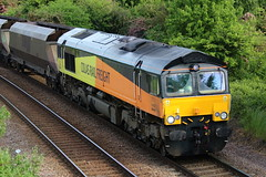 Colas Class 66 - 66848 - Toton South (NewSpectrum) Tags: train diesel ying shed loco 66 class locomotive coal hopper freight colas toton 66848