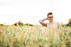 IMG_2406 (Roman Strai) Tags: sunset shirtless portrait bw cloud sun hot male men guy nature muscles field fashion stars wheat grain mind