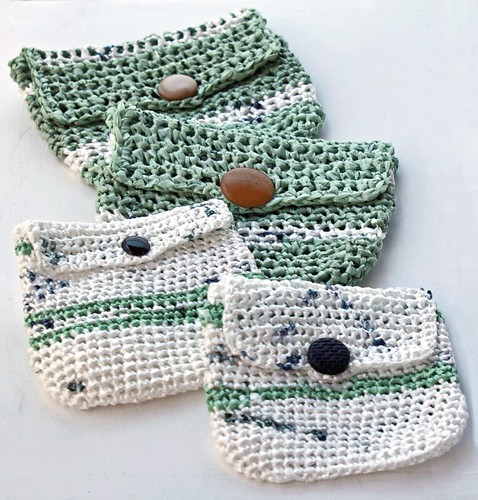 Coin purses - re-purposing plastic bags