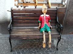 orvieto pinokio (kexi) Tags: italy june bench toy sitting samsung souvenir umbria orvieto pinokio 2013 wb690