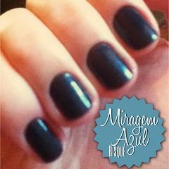 Esmalte Miragem Azul-Risque (Fefe SB) Tags: verde azul glitter cores vermelho impala vinho mão risque unha esmalte metalico mohda