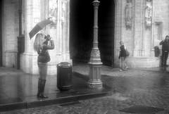 Weather Resistant camera (Spotmatix) Tags: camera brussels urban film monochrome rain landscape effects iso100 seasons belgium places lucky petri shd100