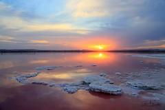 camino al sol (Cani Mancebo) Tags: sunset landscape atardecer paisaje salinas alicante torrevieja canimancebo