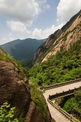 Take a Walk (Universal Stopping Point) Tags: china bridge forest scenery pedestrian trail huangshan mountainous