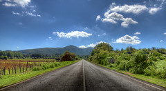 Road of Thousand Lakes (The.Dark.Passenger.) Tags: road blue sky mountains verde green nature clouds montagne landscape strada nuvole day blu infinity sunny natura cielo straight distance infinito hdr paesaggio distanza lontananza