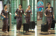 Singapore Girls (Kokkai Ng) Tags: new travel girls people male girl beautiful smart smiling modern female bag walking asian clothing airport women singapore uniform asia southeastasia pretty dress working luggage indoors arrival changi youngadult terminal3 sq groupofpeople sarong changiairport sia kebaya singaporeairlines occupation singaporean singaporegirl traditionalclothing singaporegirls smallgroupofpeople sarongkebaya airstewardess fivepeople asianethnicity luggagebag chineseethnicity mediumgroupofpeople peopletravelling malewithgroupoffemales transportoccupation aerialtransportbuilding traditionallysingaporean